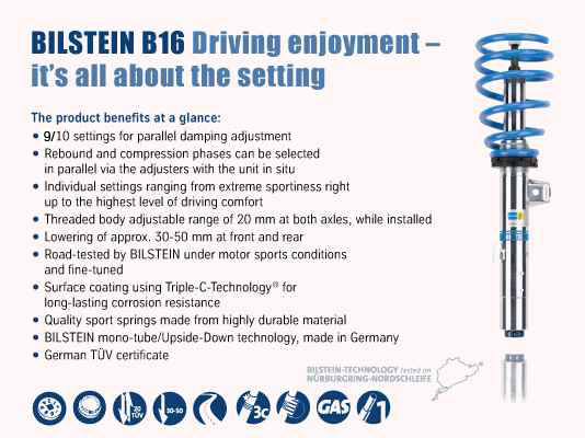Bilstein PSS10 Performance Suspension System for VW Golf/Beetle