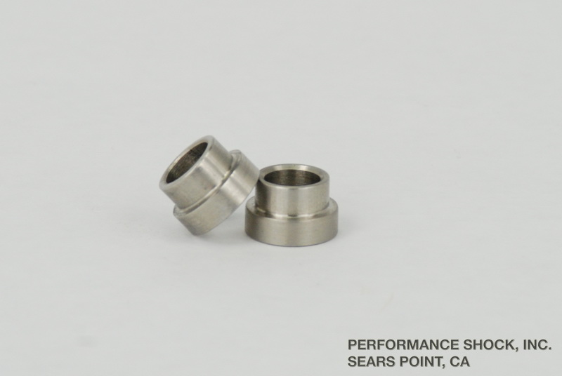 "3/8"" to 1/2"" (.187"" flange/shoulder) rod end reducer bushings"
